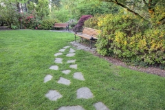 Stone Steps to Park Bench