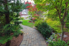 Garden Brick Path in Frontyard
